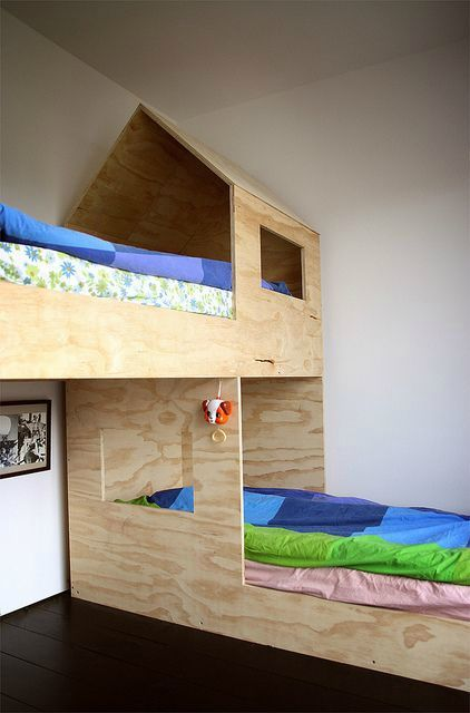 funky bunk bed with Plywood