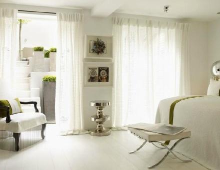 warm white bedroom